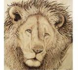 """Sentinel"" Pyrography on wooden panel AVAILABLE"